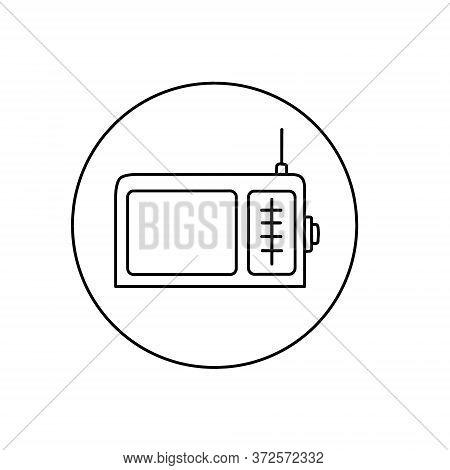 Fm Radio Icon. Trendy Modern Flat Linear Vector Fm Radio Icon On White Background From Thin Line Har