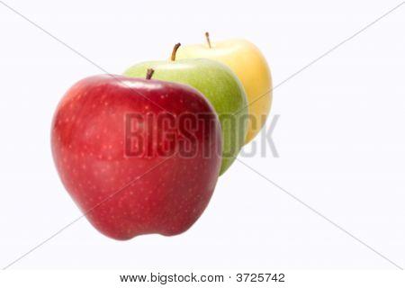 Three Apples On White Background