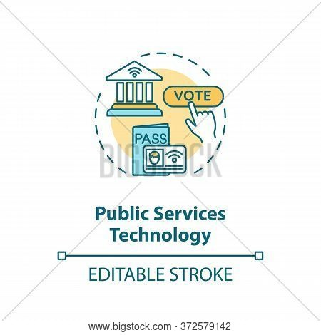 Public Service Technology Concept Icon. Electronic Government. Online Voting Poll. E Governance Idea