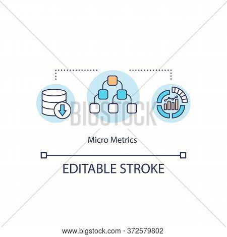 Micro Metrics Concept Icon. Information Management. Organization Growth. Performance Indicator. Big