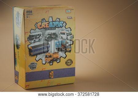 Samut Prakan, Thailand - June 21, 2020 : Box Of Toy Eggs Surprise Mini Blocks Of Toy Car From Loz Cr