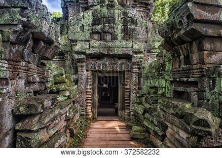 Siem Reap, Cambodia 06.07.2017 Ta Prohm, Part Of Khmer Temple Complex, Asia. Siem Reap, Cambodia