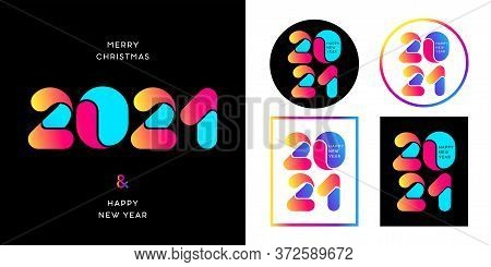 2021 Happy New Year Logo Text Design. 2021 Number Design Template. Collection Of 2021 Happy New Year