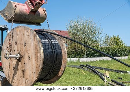 Energy Requirements For The Power Network On A Cable Drum For Laying Underground Cables