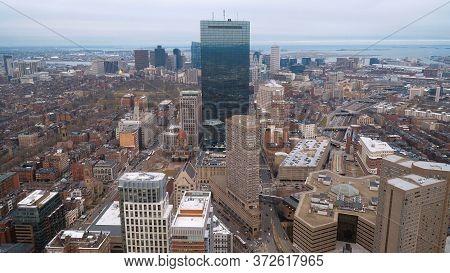 John Hancock Tower In Boston - Boston. Usa - April 5, 2017