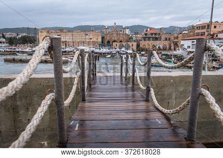Bridge On Remains Of Phoenician Wall In Historic Batroun Coastal City In Batroun District, Lebanon,