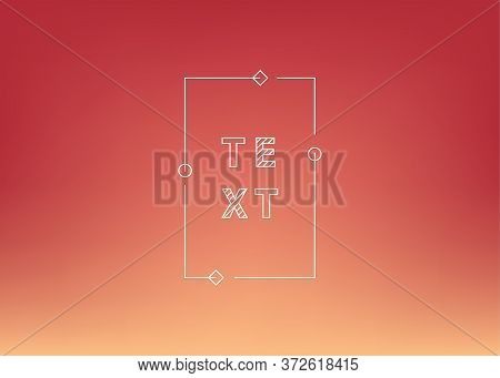Nature Red Gradient Background. Abstract Bright Color Background. Ui Ux Trendy Web Vector Backdrop.
