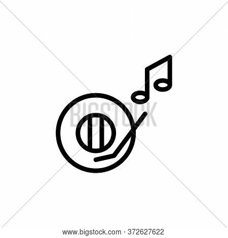Music, Disk Concept Line Icon. Simple Element Illustration. Music, Disk Concept Outline Symbol Desig