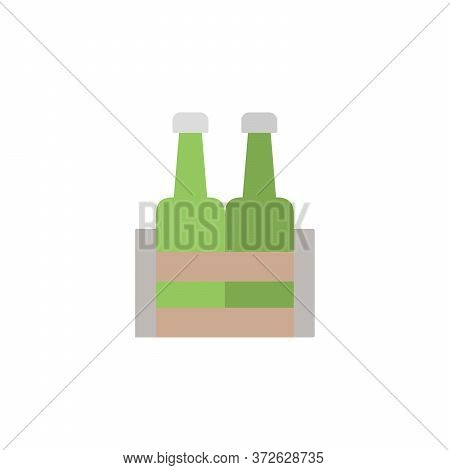 Beer. Beer Box Colored Icon. Simple Colored Element Illustration. Beer. Beer Box Concept Symbol Desi