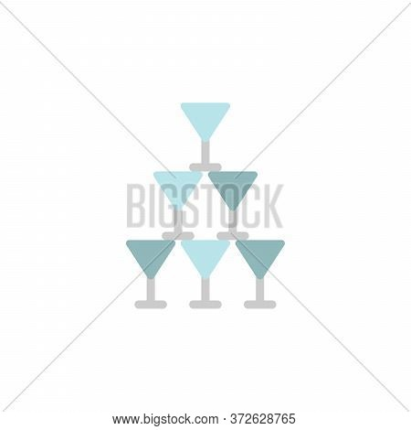 Tequila Glasses Colored Icon. Simple Colored Element Illustration. Tequila Glasses Concept Symbol De