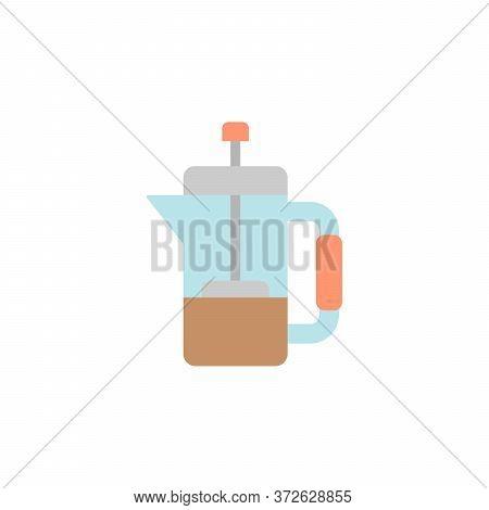 Tea, French Press Colored Icon. Simple Colored Element Illustration. Tea, French Press Concept Symbo