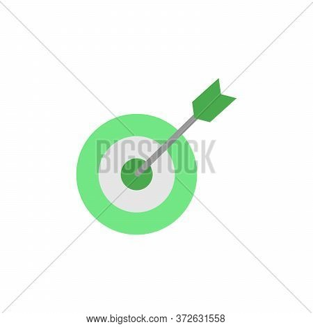 Goal Colored Icon. Simple Colored Element Illustration. Goal Concept Symbol Design From Business Str