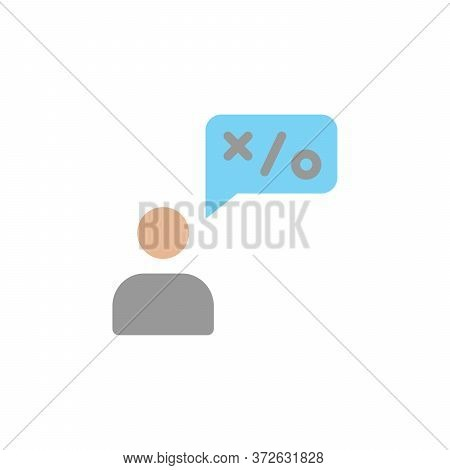 Talk, Businessman Colored Icon. Simple Colored Element Illustration. Talk, Businessman Concept Symbo