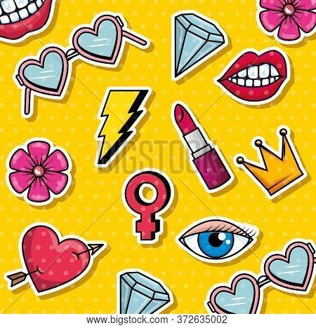Fashion Graphic Pop Art Background Vector Illustration