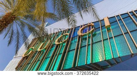 Las Vegas, Nevada, Usa - February 20, 2020: Exterior Of The Shops At Crystals On The Las Vegas Strip