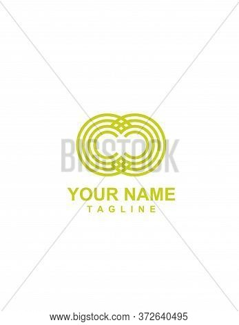 Cc, Co, Oc, Oo Initials Geometric Logo And Vector Icon