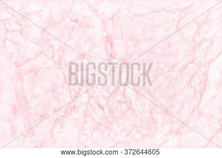 Pink Marble Texture Background With High Resolution, Top View Of Natural Tiles Stone Floor In Luxury