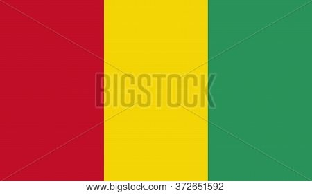 Guinea Flag, Official Colors And Proportion Correctly. National Guinea Flag. Vector Illustration. Fl