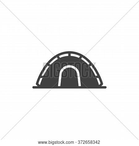 Camping Tent Vector Icon. Filled Flat Sign For Mobile Concept And Web Design. Tourist Tent Glyph Ico