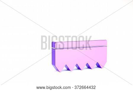 Purple Sponge With Bubbles Icon Isolated On White Background. Wisp Of Bast For Washing Dishes. Clean
