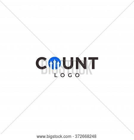 Wordmark Logo Design Of Count On White Background Colours - Eps10 - Vector.