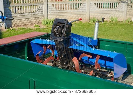 Cultivator For Tractor On The Trailer, Cultivator For Two Wheeled Tractor On The Trailer, A Mill For