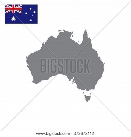 Australian Map Vector Isolated On White Background.  Australia Map. Australian Map Vector. Australia