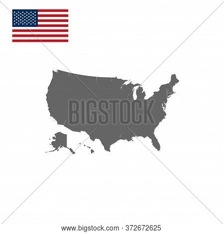 Usa Map Vector Isolated On White Background. United States Map. United States Of America Map. United