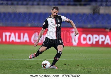 Roma. Italy. 17th June 2020. Italian Cup Final. Ssc Napoli Vs Juventus Fc .  Leonardo Bonucci Of Juv