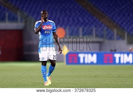 Roma. Italy. 17th June 2020. Italian Cup Final. Ssc Napoli Vs Juventus Fc .  Kalidou Koulibaly Of Ss
