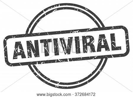 Antiviral Grunge Stamp. Antiviral Round Vintage Stamp