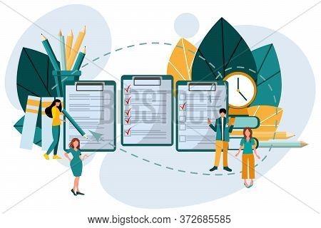 Concept Of Online Exam, Questionnaire, Online Education, Survey, Online Quiz.