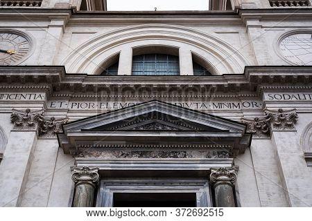 Trinita Dei Monti Church And Convent In Rome, Italy