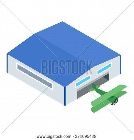 Biplane Icon. Isometric Illustration Of Biplane Vector Icon For Web