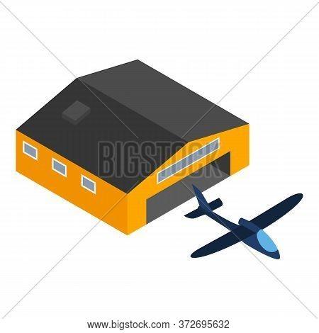 Glider Plane Icon. Isometric Illustration Of Glider Plane Vector Icon For Web