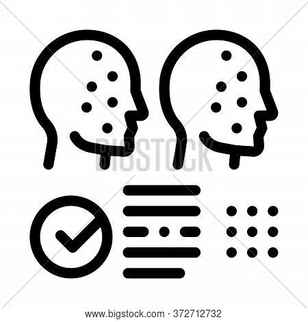 Deepfake Online Scanner Icon Vector. Deepfake Online Scanner Sign. Isolated Contour Symbol Illustrat
