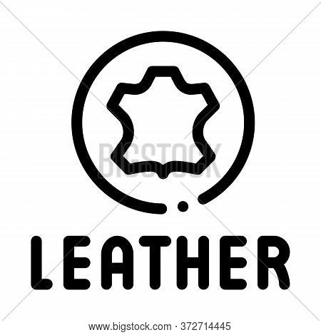 Genuine Leather Label Icon Vector. Genuine Leather Label Sign. Isolated Contour Symbol Illustration