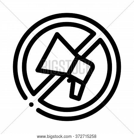 Loudspeaker Crossed Out Sign Icon Vector. Loudspeaker Crossed Out Sign Sign. Isolated Contour Symbol