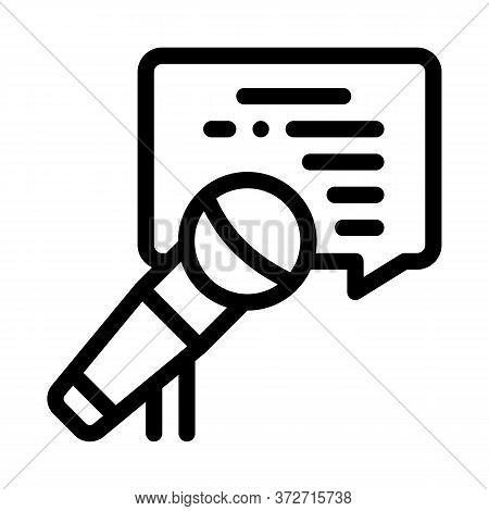 Seminar Microphone Speak Icon Vector. Seminar Microphone Speak Sign. Isolated Contour Symbol Illustr