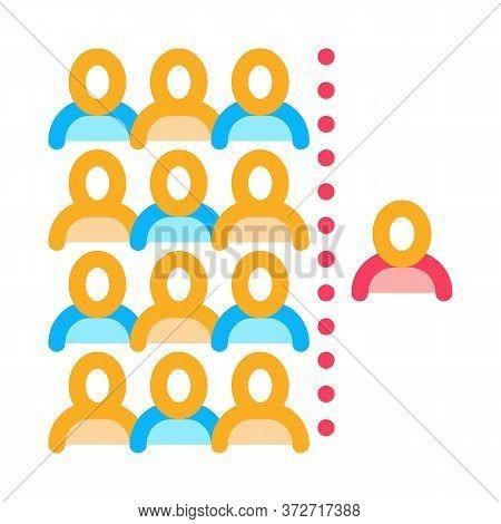 Human Dementia Per Population Icon Vector. Human Dementia Per Population Sign. Color Symbol Illustra