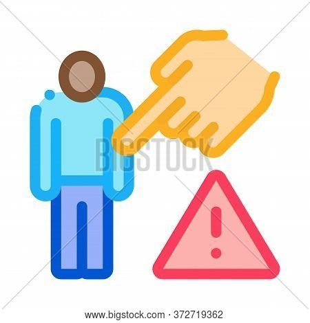 Other Race Show Hand Icon Vector. Other Race Show Hand Sign. Color Symbol Illustration