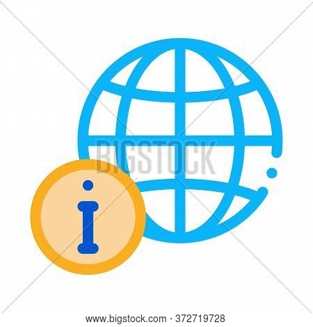 Worldwide Information Icon Vector. Worldwide Information Sign. Color Symbol Illustration
