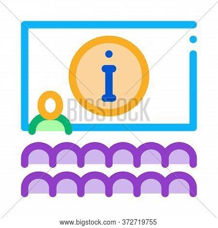 Lector Information Blackboard Icon Vector. Lector Information Blackboard Sign. Color Symbol Illustra