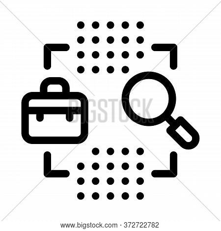 Business Case Research Icon Vector. Business Case Research Sign. Isolated Contour Symbol Illustratio
