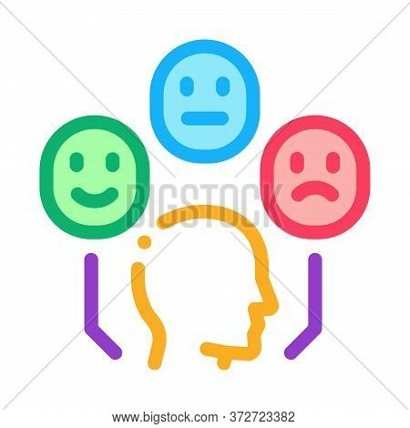 Positive Neutral Negative Human Feedback Icon Vector. Positive Neutral Negative Human Feedback Sign.