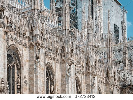 Milan Cathedral Is The Cathedral Church Of Milan In Lombardy, Northern Italy. Landmark.
