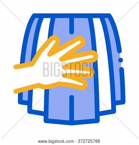Touch Woman Buttocks Skirt Icon Vector. Touch Woman Buttocks Skirt Sign. Color Symbol Illustration