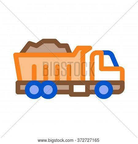 Road Repair Truck Icon Vector. Road Repair Truck Sign. Color Symbol Illustration