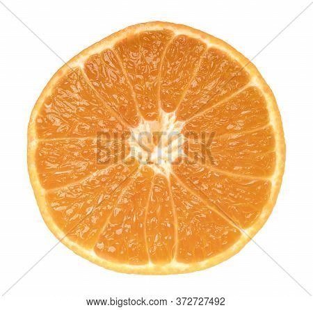 Orange Fruit Isolate On White Background With Clipping Path.