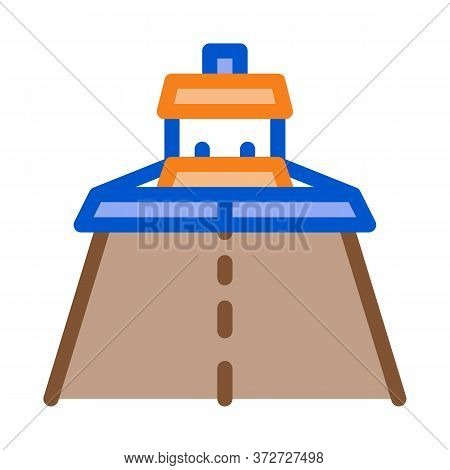 Road Repair Paver Machine Icon Vector. Road Repair Paver Machine Sign. Color Symbol Illustration